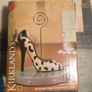Kirkland Pink Print Shoe Photo Clip